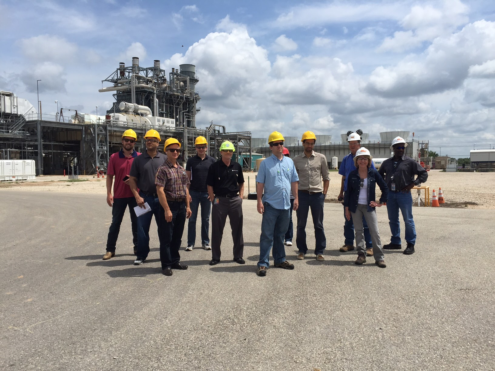 Power Plant Tour Group Photo