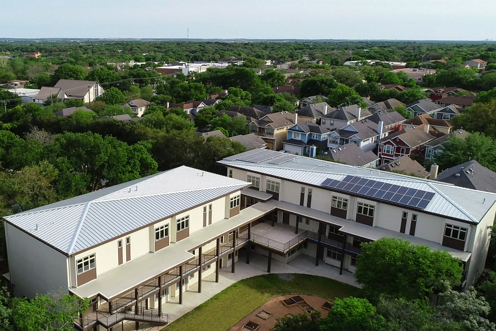 Eco-friendly community in South Austin. AEGB rating: ★★★★ ©Paul Finkel