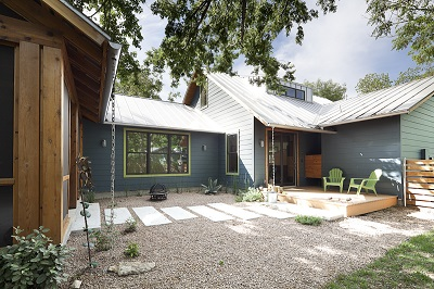 South Austin 5-star AEGB rated home incorporates green features. © Kimberly Davis.