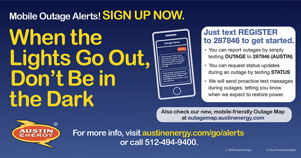 Register For Outage Alerts And Be Prepared For Possible Severe Weather