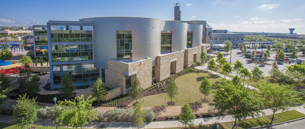 Dell Children's Medical Center, W.H. and Elaine McCarty South Tower. Austin Energy Green Building rating: ★★★★★  © Marc M. Swendner, Seton Healthcare Family.